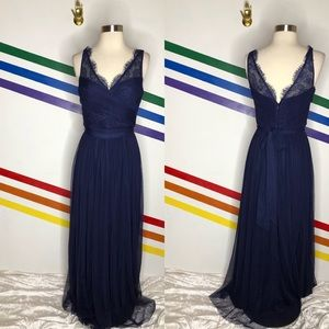 NEW Hitherto tulle navy gown